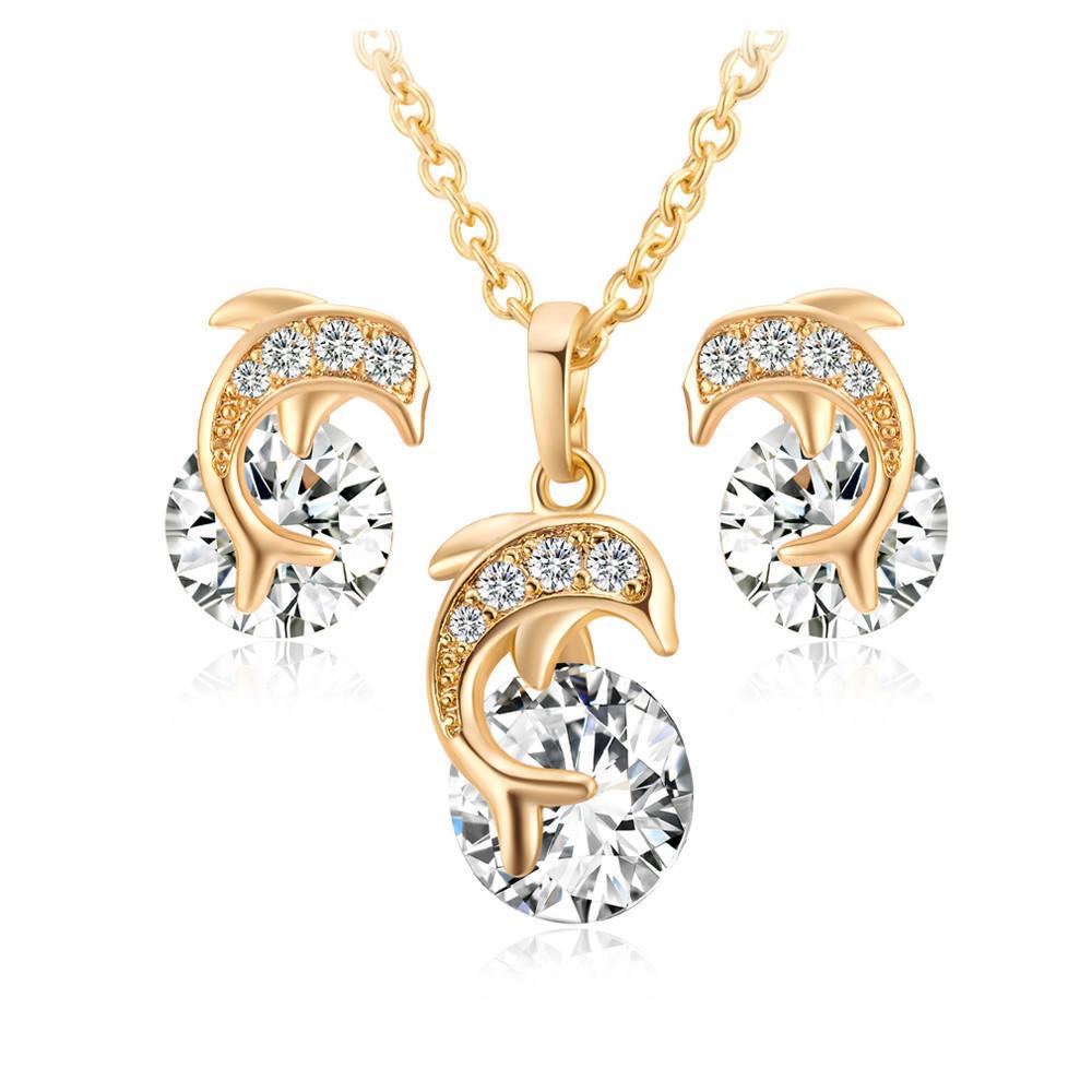 Женские ювелирные изделия Мода кулон ожерелье падение серьги комплект ювелирных изделий