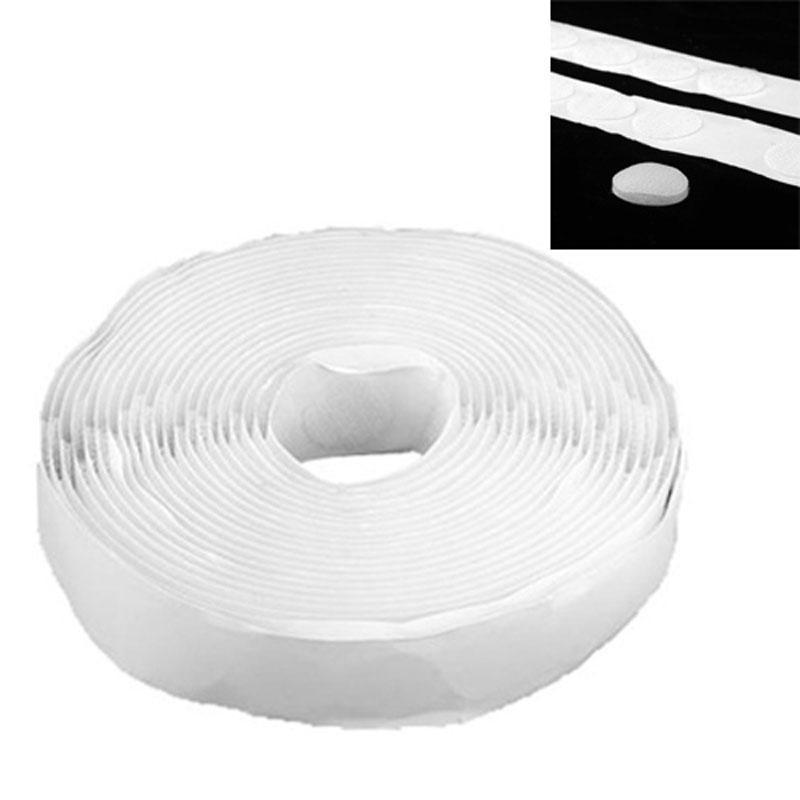 250 пар белый Velcro липкие самостоятельной клейкий крючок цикл круглых точек колодки ленты цикл лыжи детские быстрики цикл