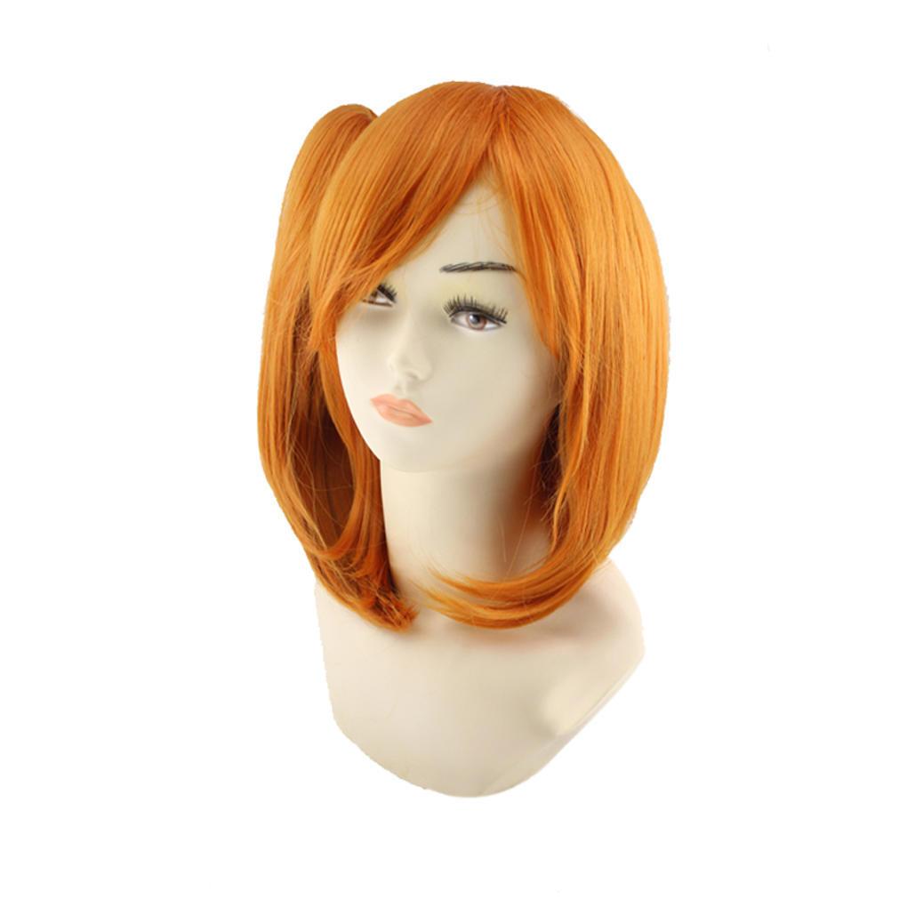Женщины короткие жаропрочные синтетический парик с косая челка для Cosplay костюм платье аксессуары для косплея neko cosplay