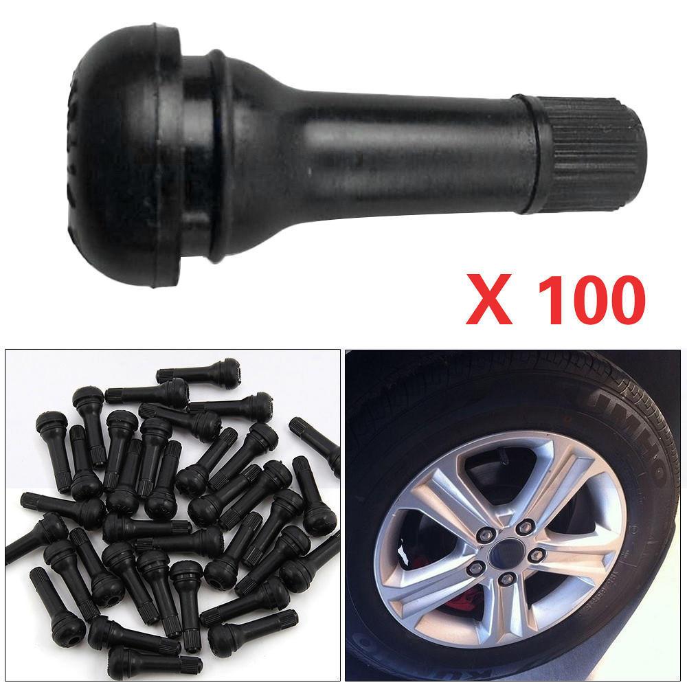 100шт TR414 Резиновые клапаны оснастки автомобилей шины клапанов ОПРАВЫ клапаны резина клапаны и заглушки