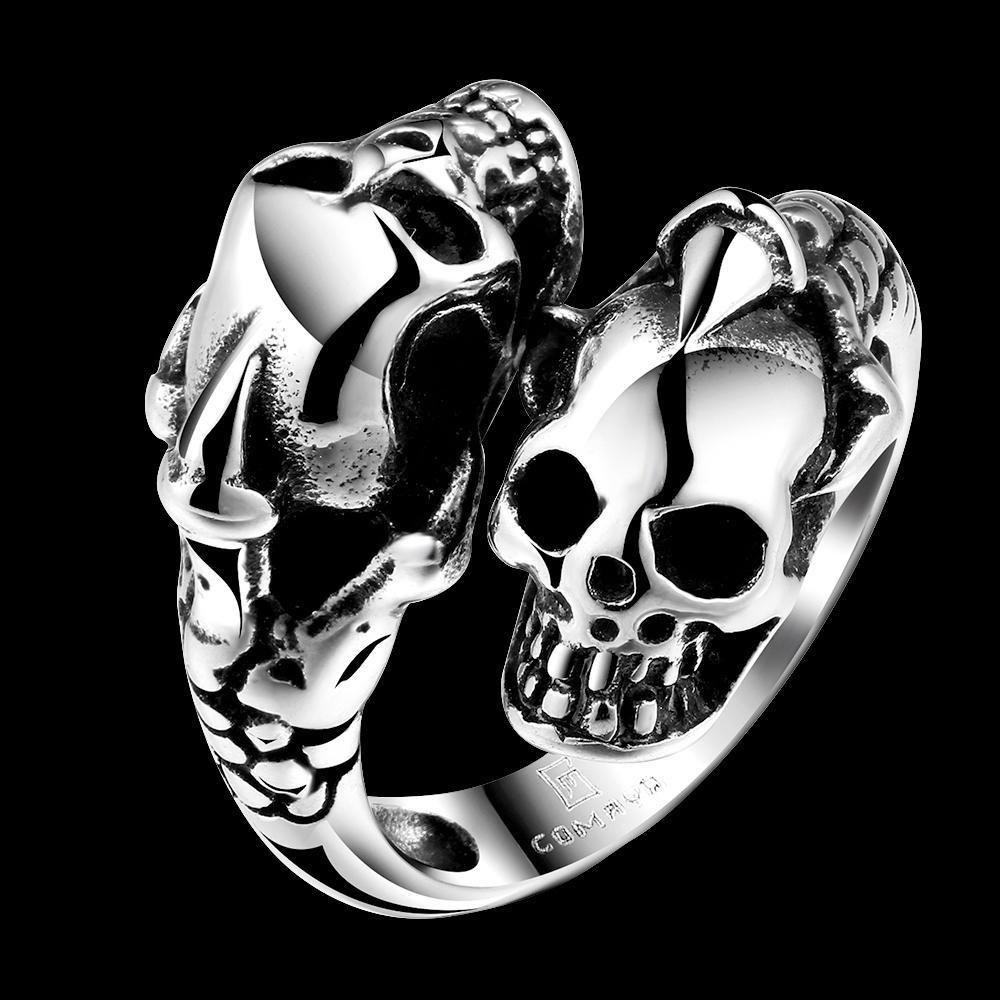 Горячие Продажа новых уникальных звезда Знаменитости Мужчины стили череп панк кольцо знаменитости в челябинске
