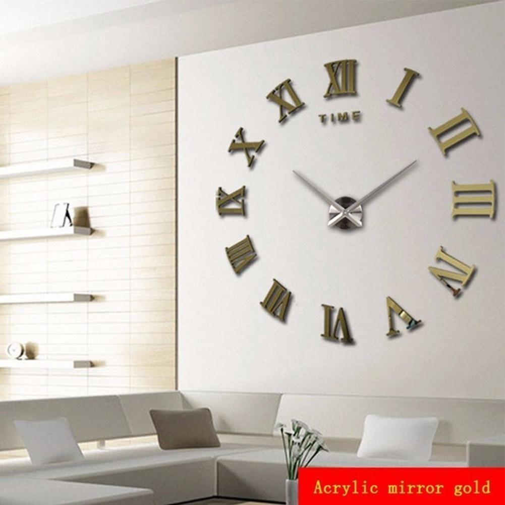 diy wall clock 3d stickers home decor art clock