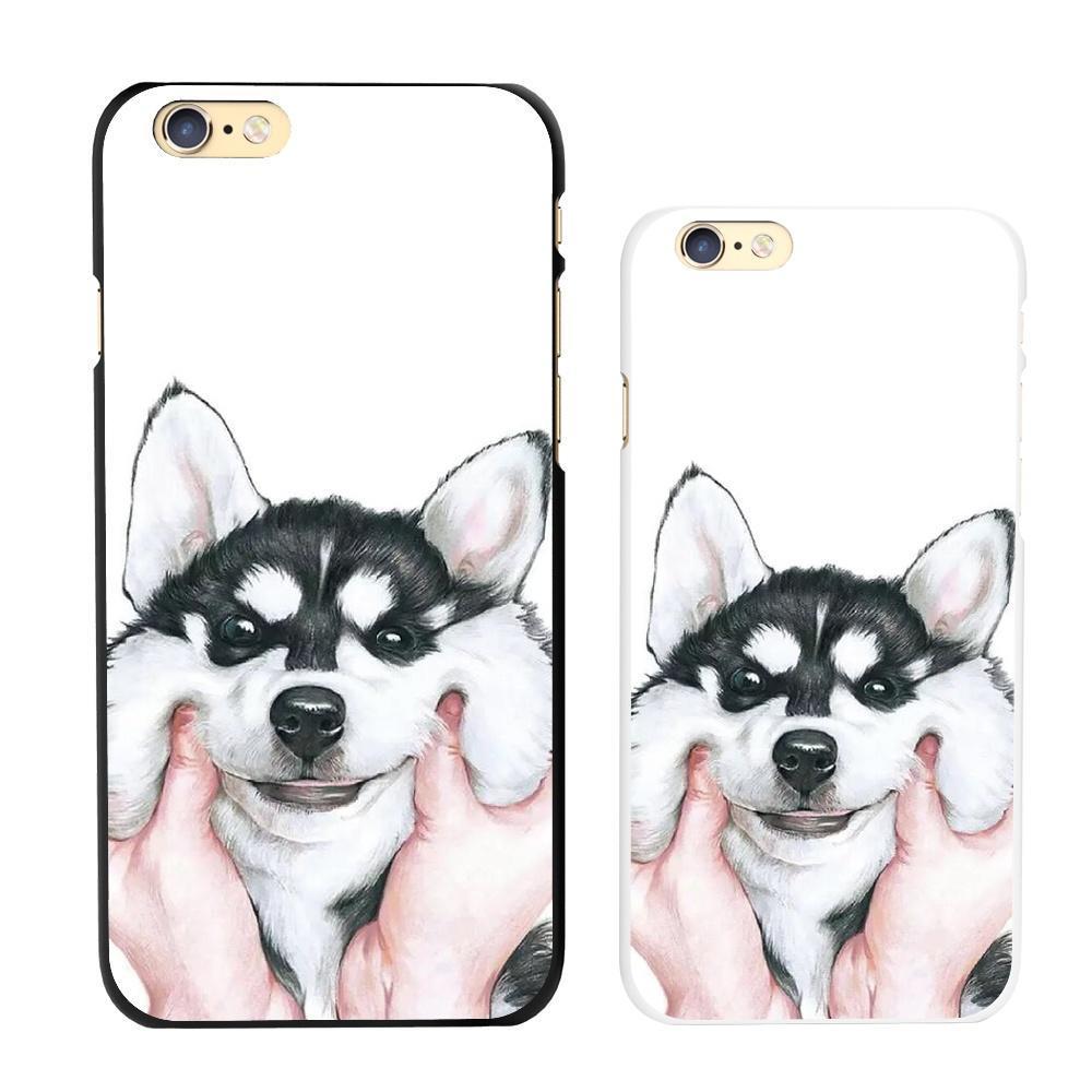 Лицо ущипнул Сибирский хаски собака картина жесткий чехол пазл сибирский хаски 360 элементов плакат 03615
