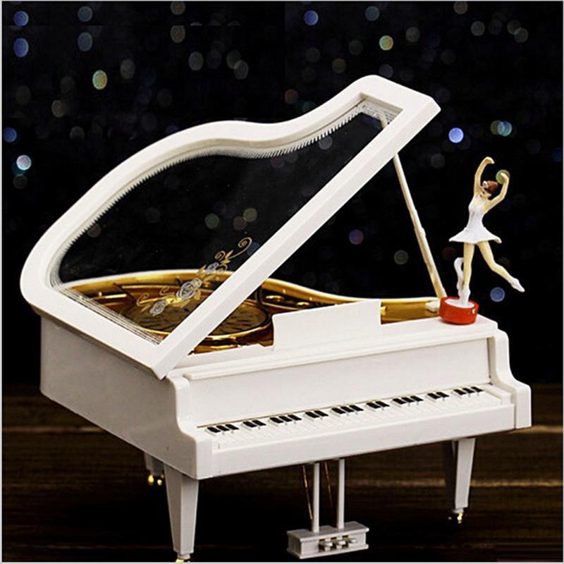 Классическое фортепиано музыкальная шкатулка балерина танцевать балерина Музыкальная игрушка Xmas... музыкальная шкатулка jakos балерина цвет розовый