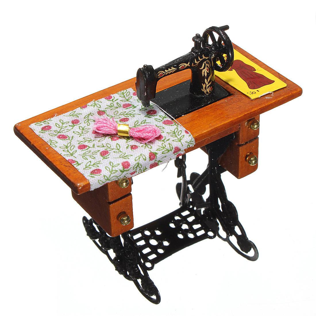 Винтаж миниатюрная швейная машина мебель игрушки дом для куклы Барби дом швейная машина vlk napoli 2400