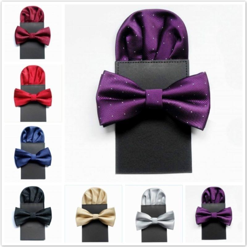 Модные галстуки шарф набор краткие горошек галстук мужчины свадьбы лук галстук партии поставки галстуки