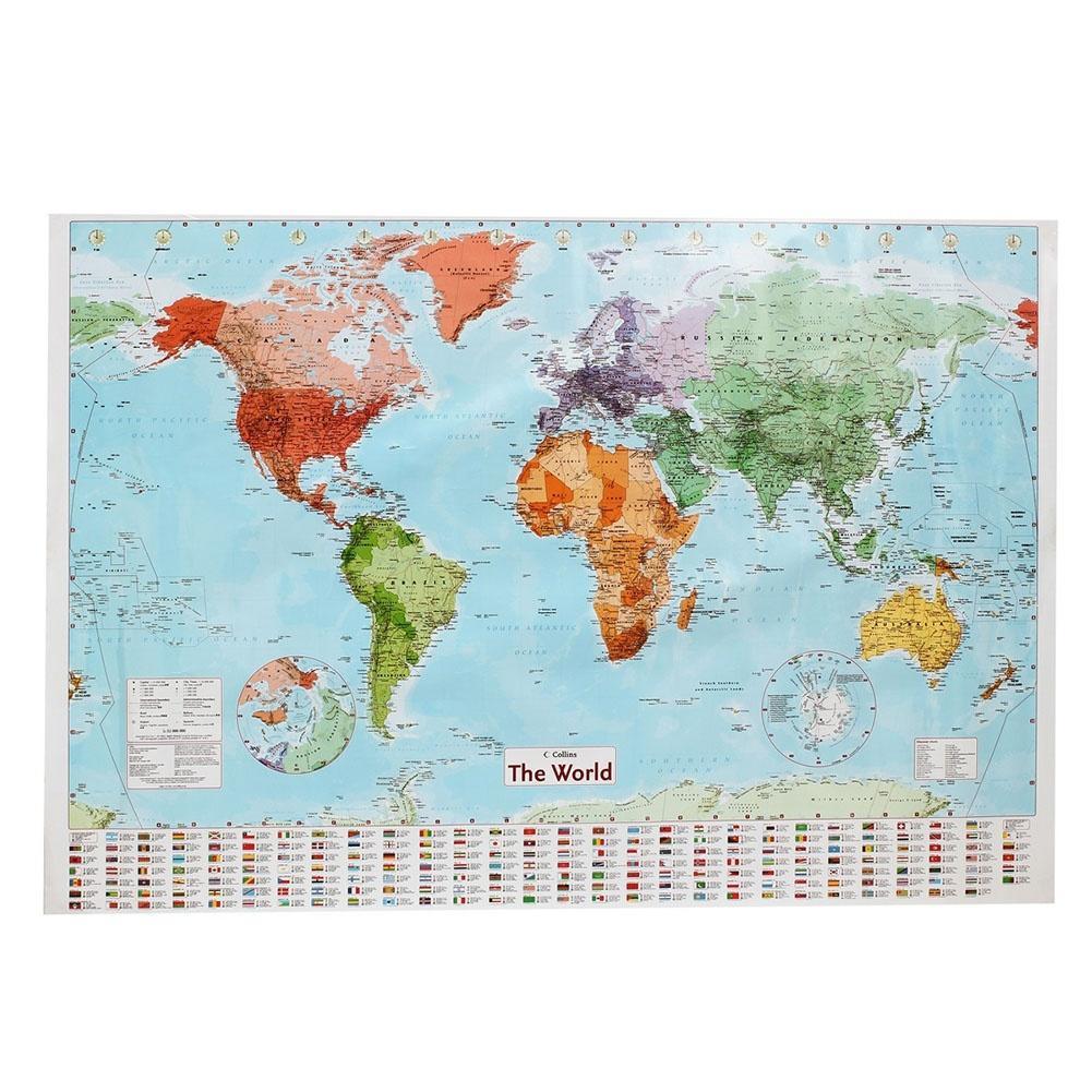 97,5 x 67,5 см карта мира плакат с страны флаги настенная диаграмма политической казань настенная карта