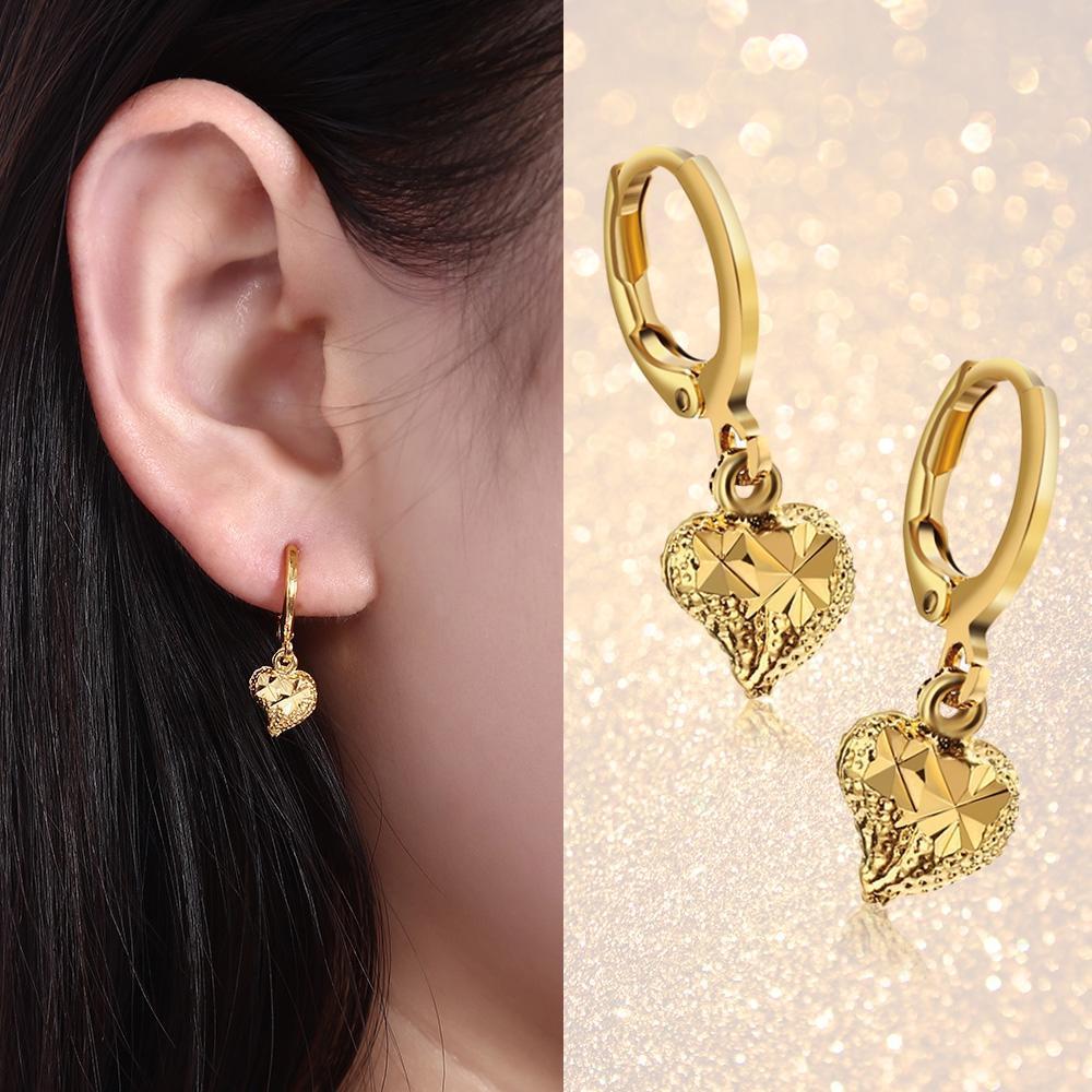 Милые сердцам 18K гальваническим золотом цвете серьги для женщин