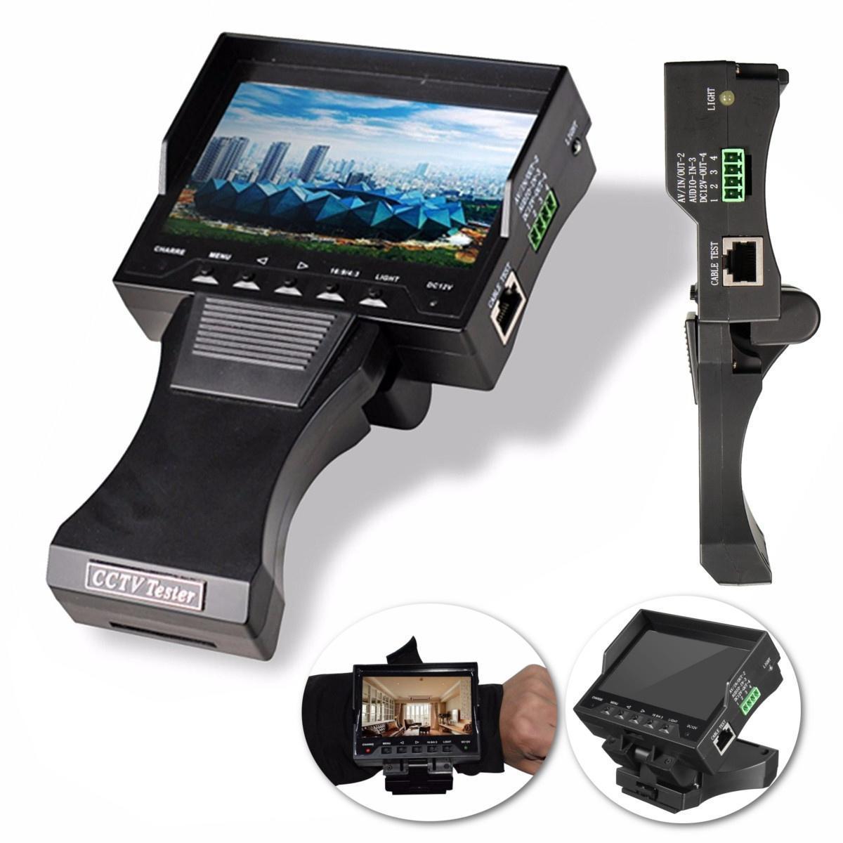 Складной 4,3-дюймовый LCD CCTV камеры тестер Monitor Net кабель тест аудио видео безопасность питер торстейнсон криптография и безопасность в технологии net