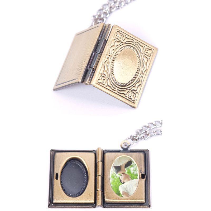 Удивительные фото рамка книга бронзовая подвеска медальон ожерелье ювелирные изделия подарок