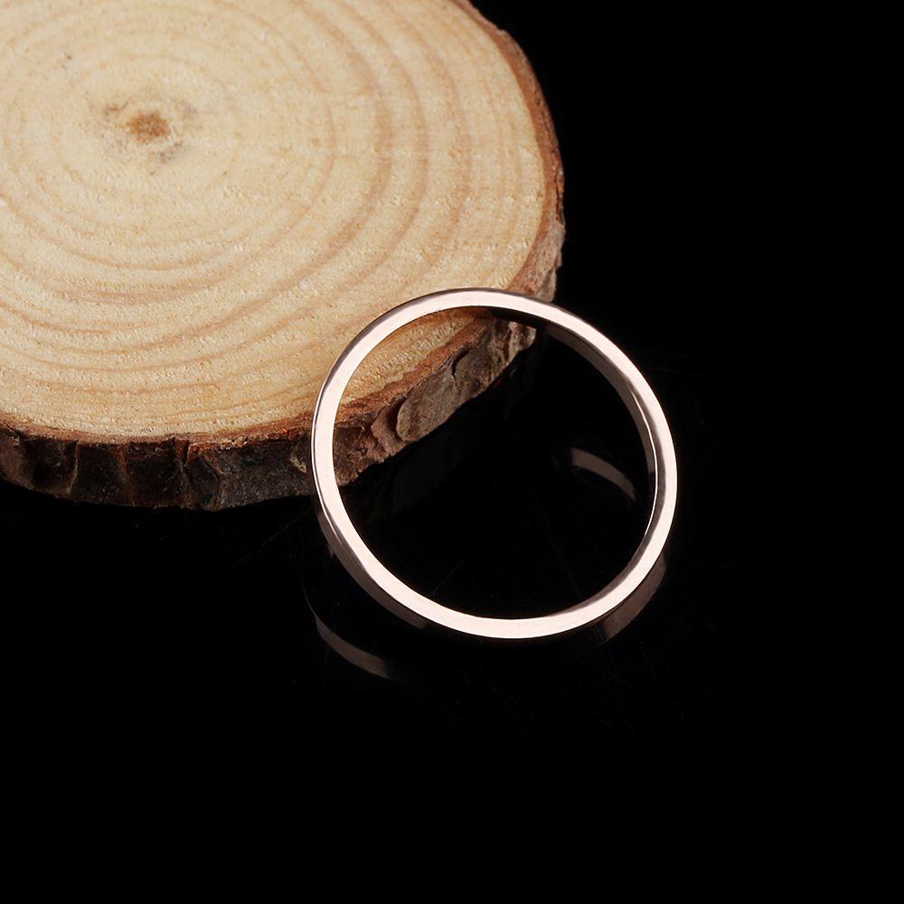 Элегантный простой кольца гладкие линии розовое золото