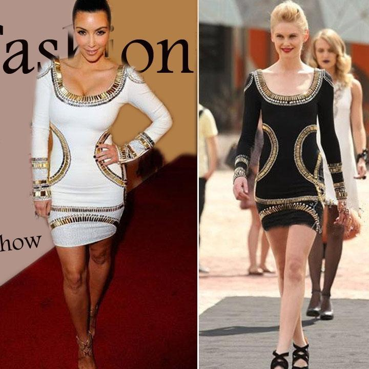 Женщины знаменитости золотой фольги мини-туника платье Bodycon сексуальные дамы платье знаменитости в челябинске