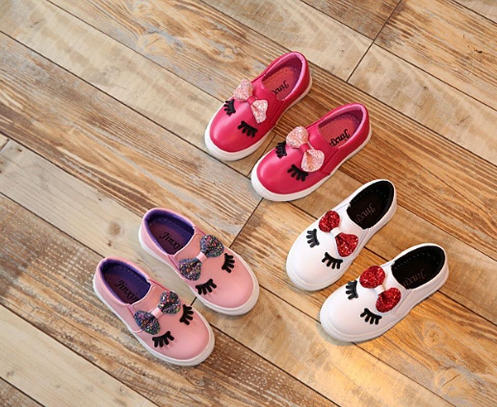 Мини-Детская обувь девочек принцесса лук обувь Обувь детская обувь повседневная обувь кроссовки мило обувь