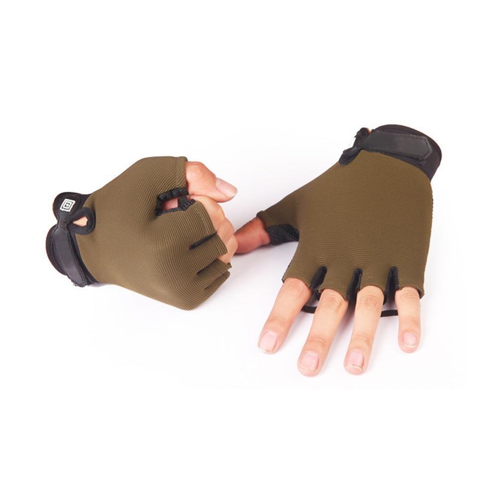 Тактические перчатки велосипедов ударопрочный нейлон Половина Finger перчатки спортивные мужские перчатки xcsource finger 18 ay035 sz