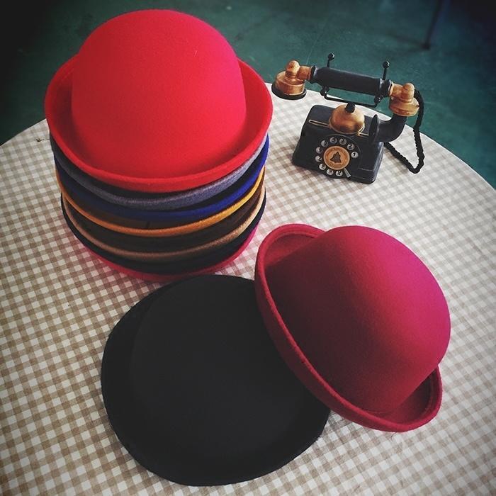 Женские модные котелок Дерби знаменитости шерстяные шляпы шапки знаменитости в челябинске