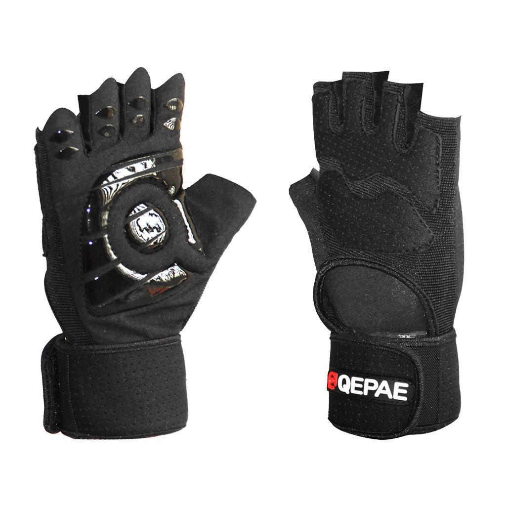 Ударопрочный Велоспорт перчатки вес подъема обучения перчатки половина дороги палец перчатки черн... перчатки stella перчатки
