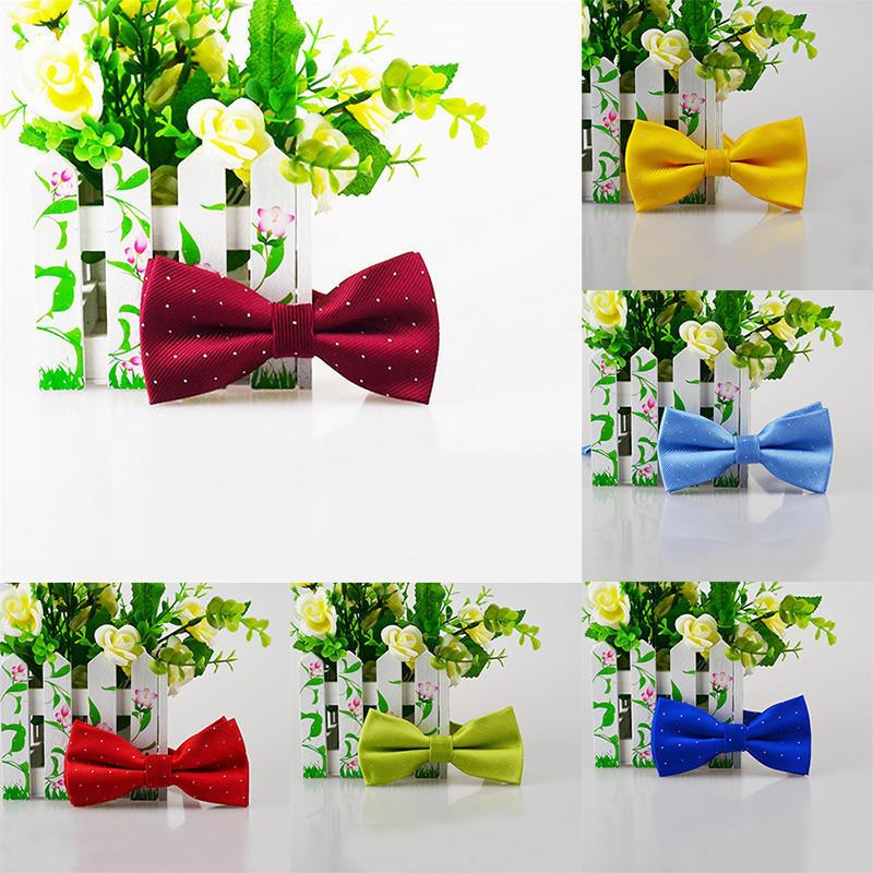 Серебряный точка галстук мужчин женщин галстуки брак жених галстук бабочка галстуки