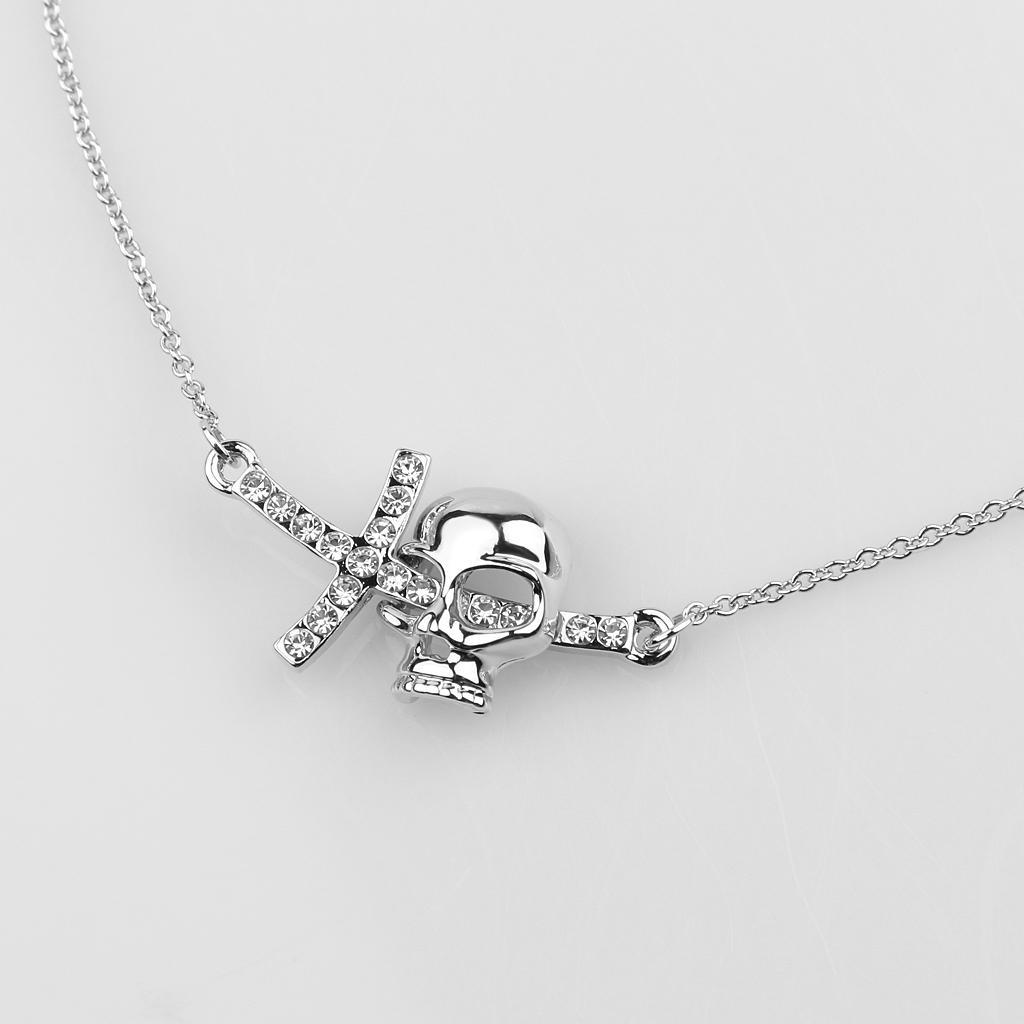 Серебряный Диаманте Кристалл Кулон крест черепа кулон с цепочкой мужское колье кулон brosway стальной кулон с цепочкой и кристаллами swarovski boc05