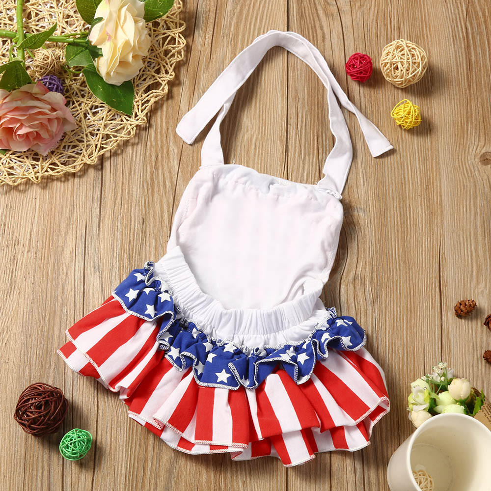 Новорожденных детей одежда Одежда для девочек печати комбинезон комбинезон Sunsuit одежда для детей