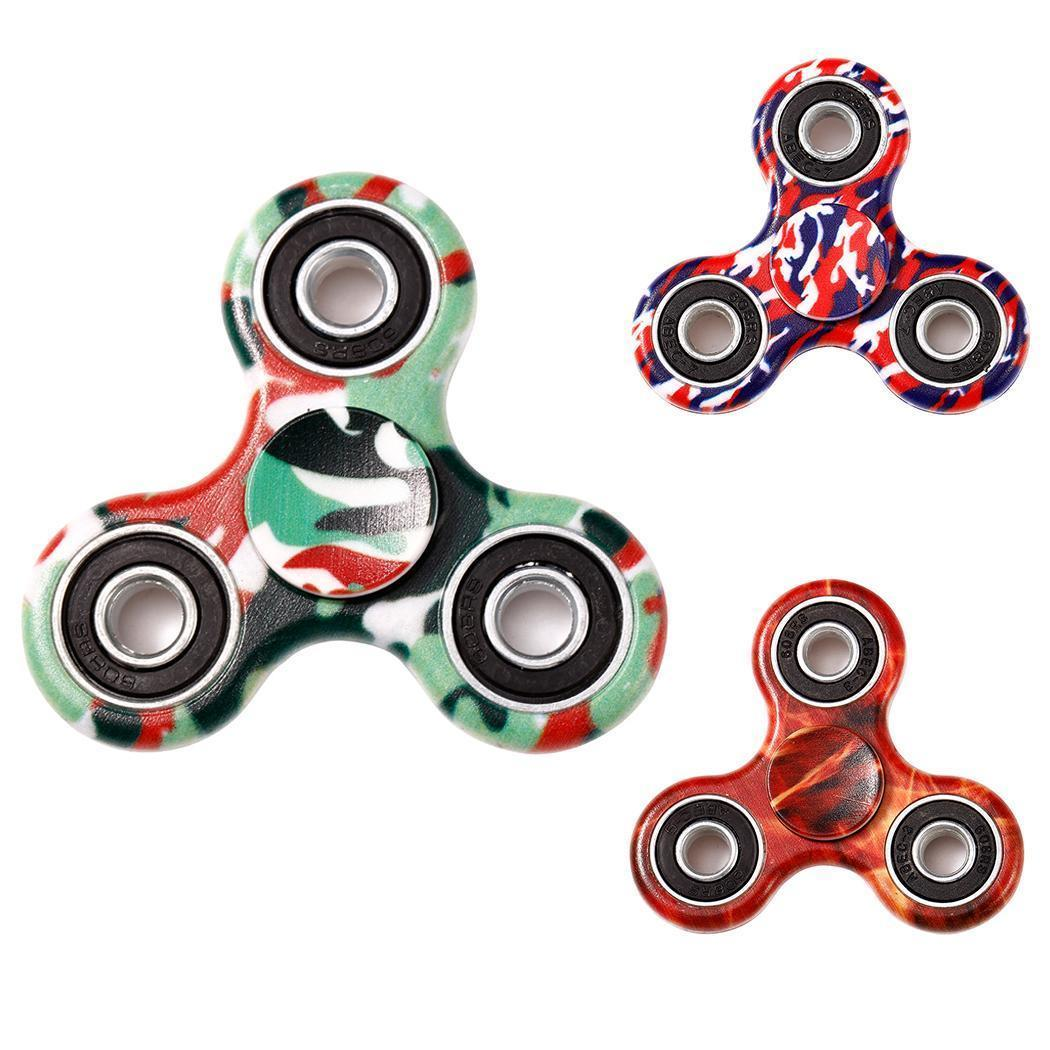 Новый камуфляж ерзать рук спина EDC Tri рука Spinner фокус стол игрушки Добавить ADHD luminous tri fidget hand spinner light in dark edc tri spinner finger toys relieve anxiety autism adhd for child