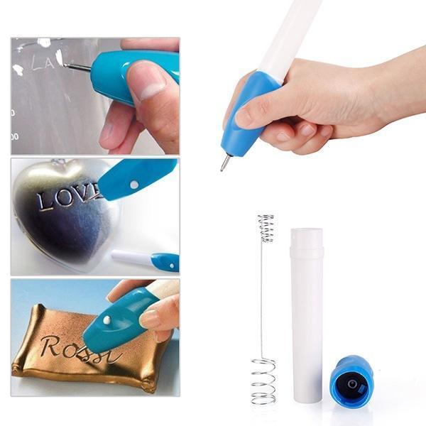 Электрическая гравировка Pen гравер высечь DIY инструмента для ювелирных изделий металла стекла п...