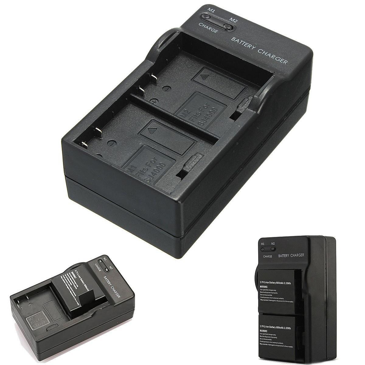 цена на Путешествие зарядное устройство батареи настенные двойной 2 для SJCAM SJ4000 SJ5000 SJ6000 камеры...