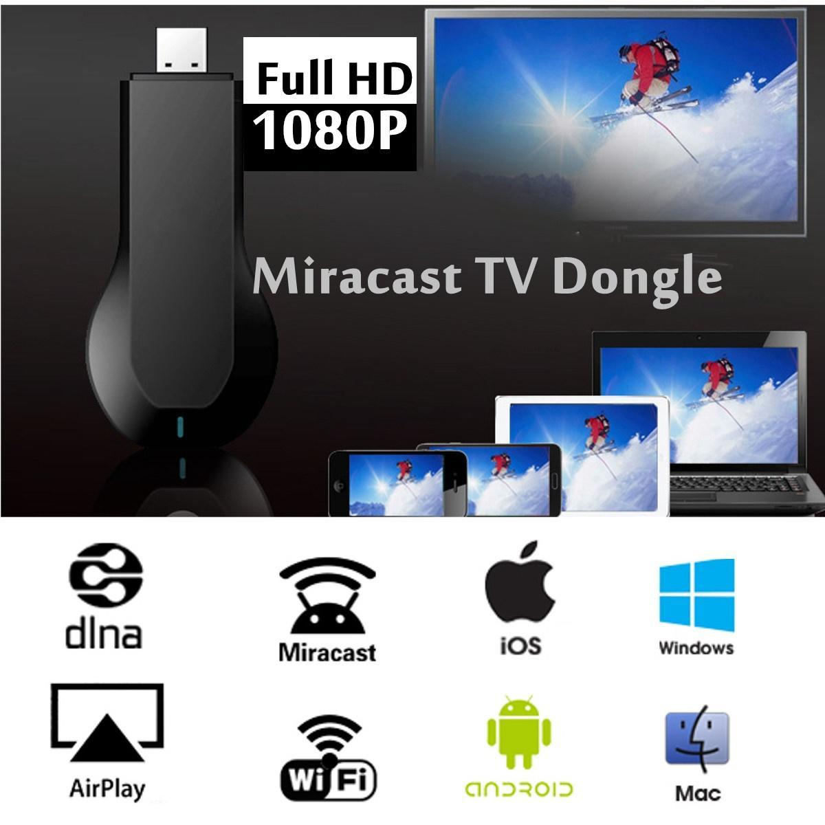 HDMI 1080P TV Stick Miracast DLNA AirPlay Wifi дисплей приемника ключ Chromecast HD средств массо... mele cast s3 tv stick wifi display adapter miracast airplay dlna support