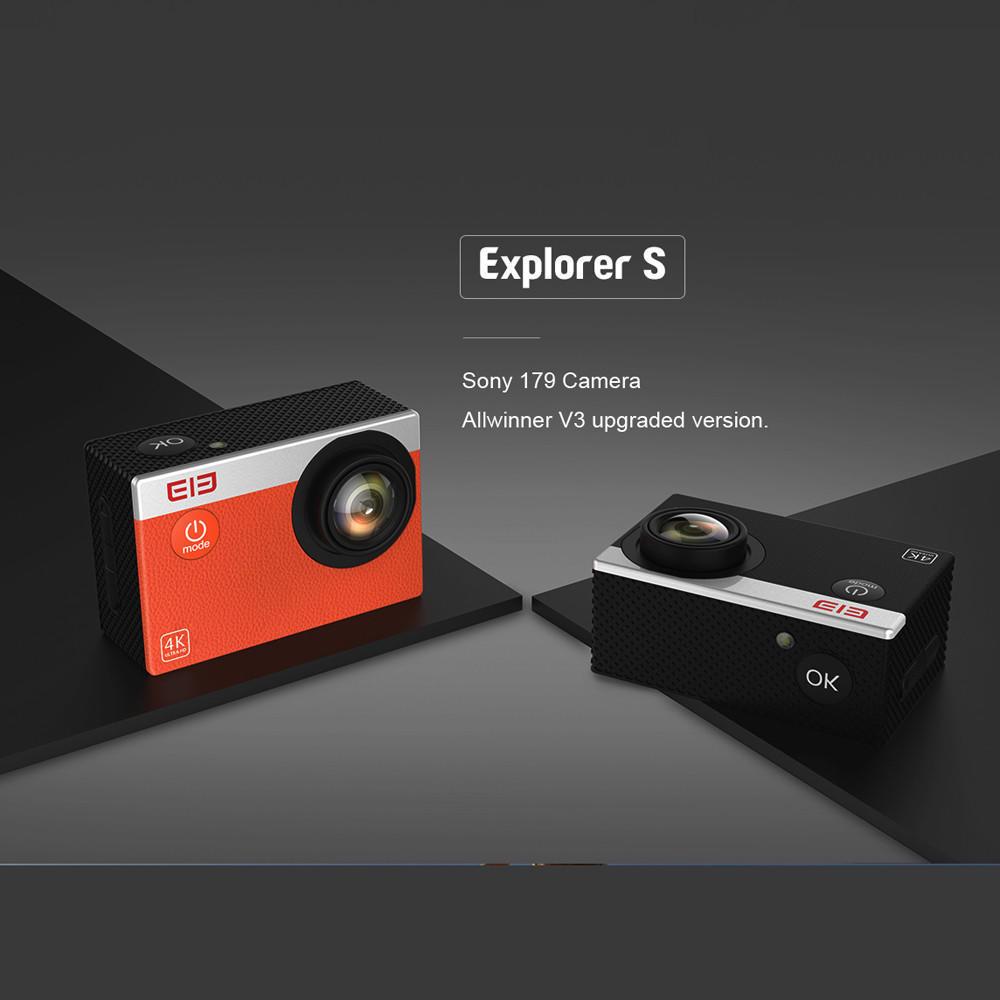 ELE Explorer S Водонепроницаемая спорт действий камеры WiFi действий камеры 4K 30FPS 170° Fancyfunny htc explorer б у