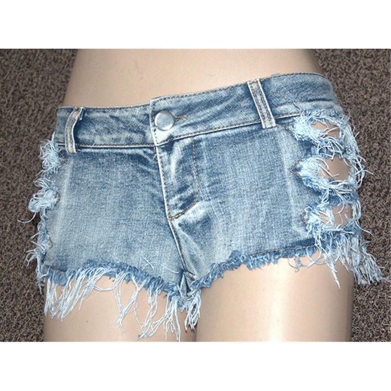 Летние женские джинсы середины талии джинсовые шорты повседневные моды джинсы шорты отверстие шор...