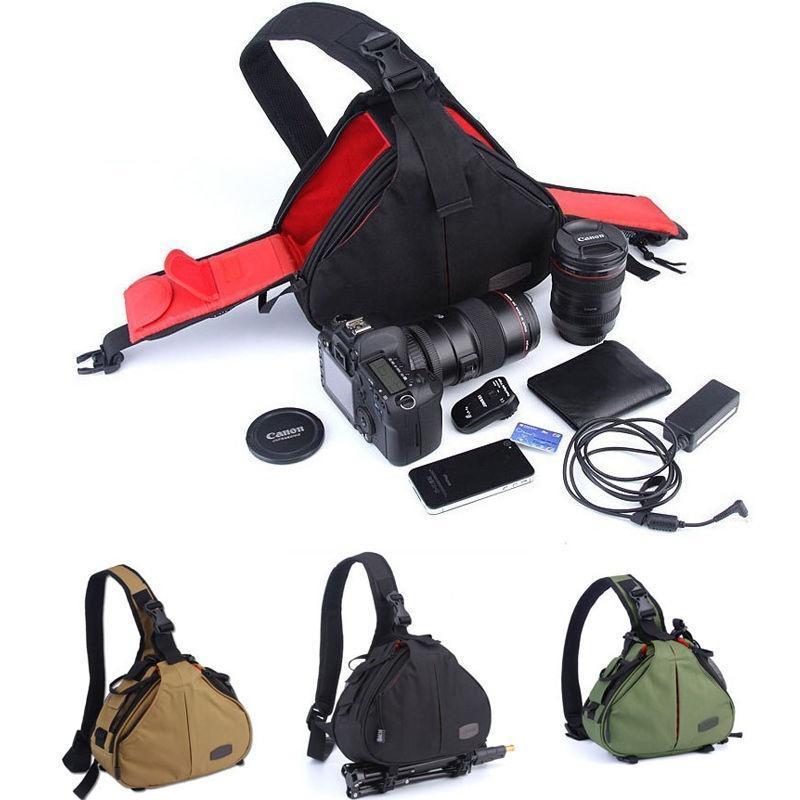 DSLR/SLR цифровая слинг камеры случае сумка рюкзак для CANON/NIKON/SONY ХФУ профессиональная цифровая slr камера nikon d3200 vr18 55 kit