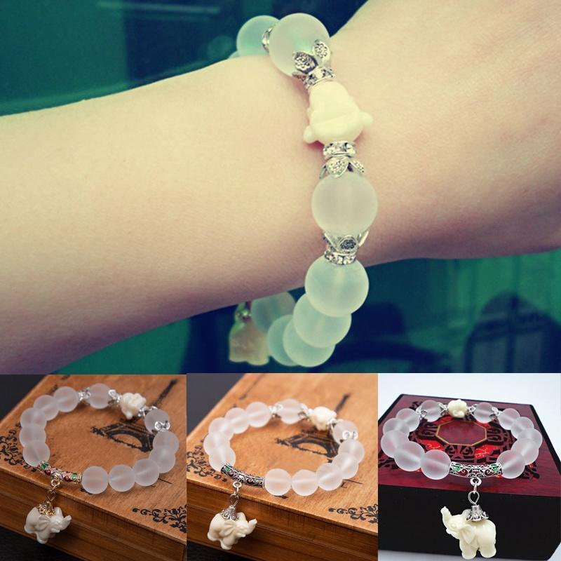 Природные браслет кристалл матовый моды супер сладкий слона женщин браслет Оптовая торговля розни...