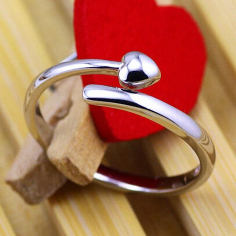 Любовь форма открыть кольцо, 925 стерлингового серебра палец кольцо хвост кольцо кольцо yueyin r161 925