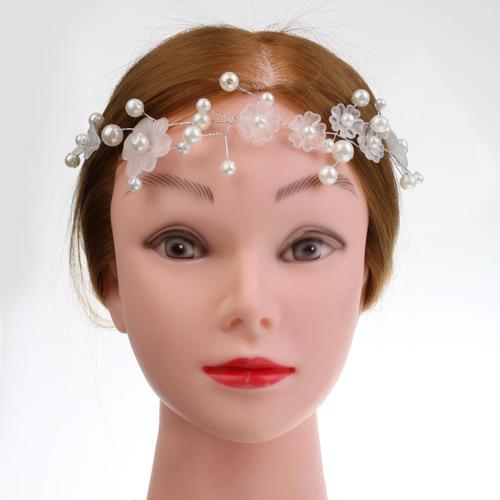 Жемчужина свадебный головной убор стразами волос лентой Diamante свадебный головной убор