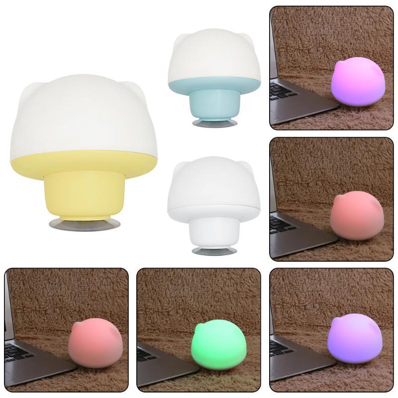 Мини-USB прикроватные красочных силиконовые ночью свет