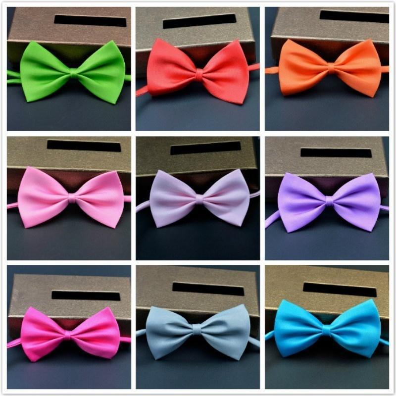 Косплей производительность галстуки твердые конфеты цвет мальчиков девочек шеи галстук галстуки