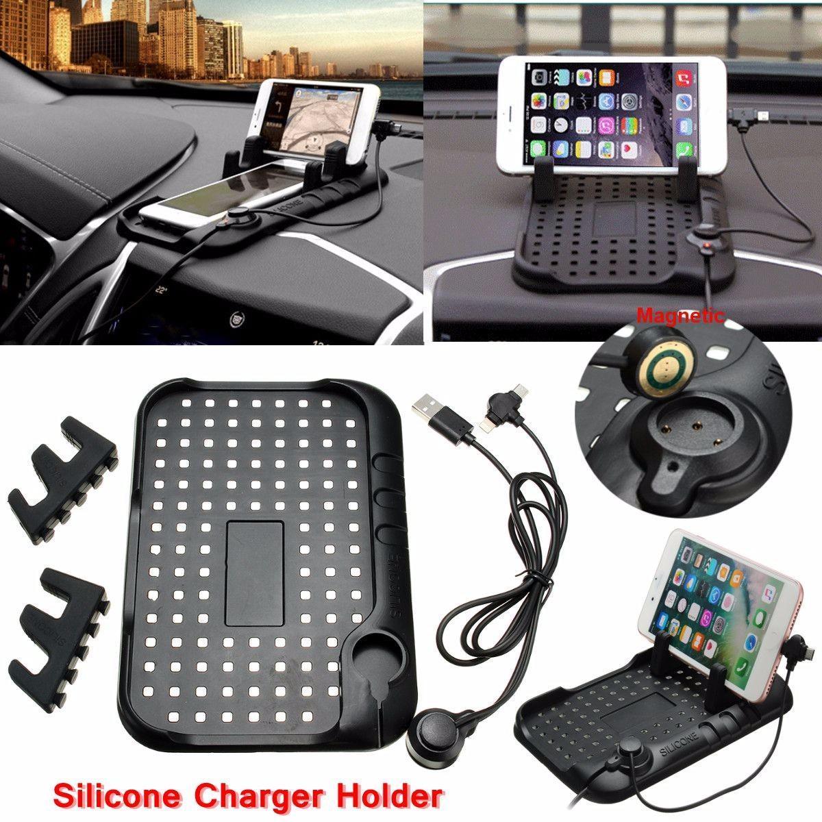 Скольжения Pad автомобиль USB зарядное устройство стенда приборной панели держатель для GPS Pad м... полироль для приборной панели atas plak amarena 400 мл