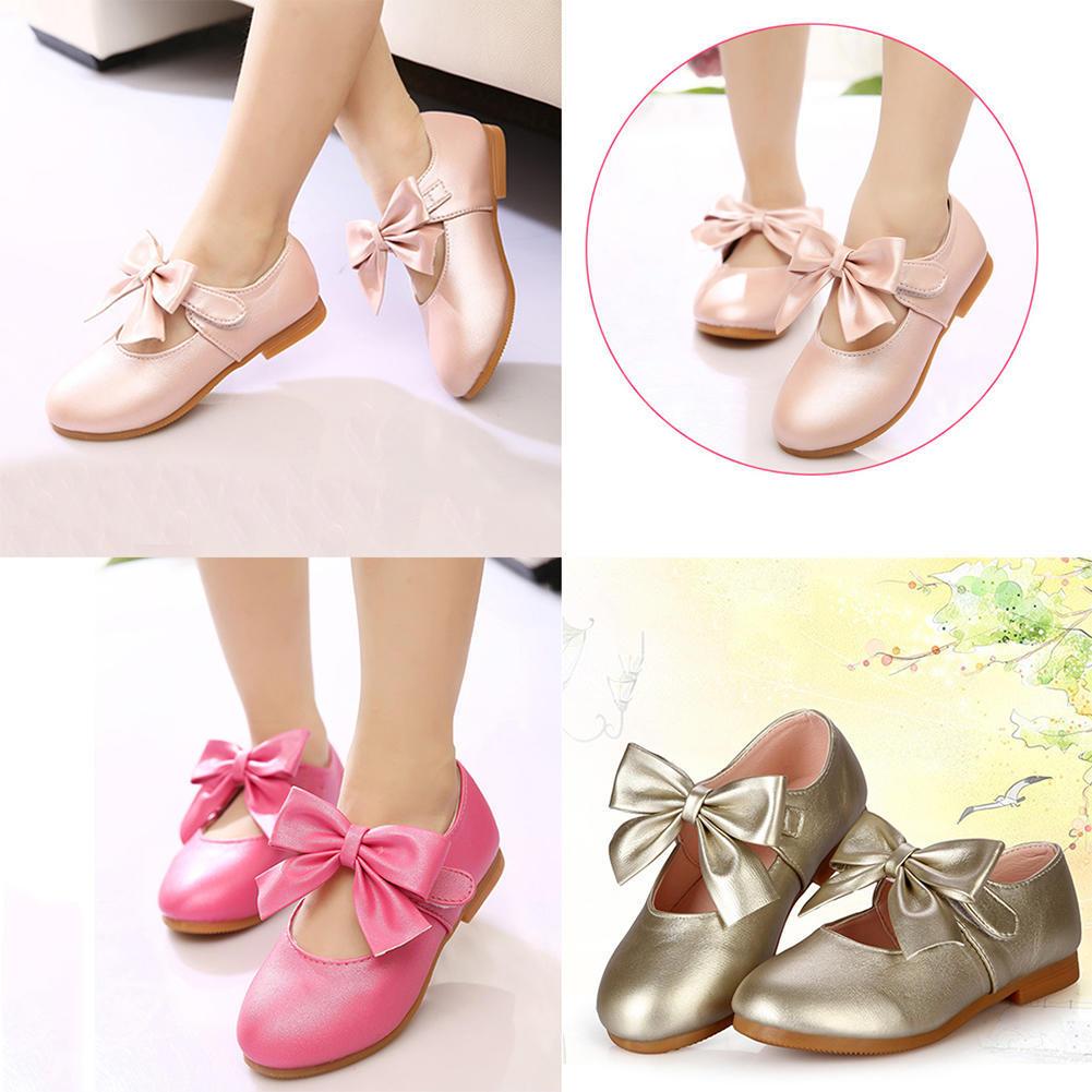 Девочек принцесса квартиры Bow-knot вскользь мягкая обувь детей дети девочек платья обувь платья для девочек