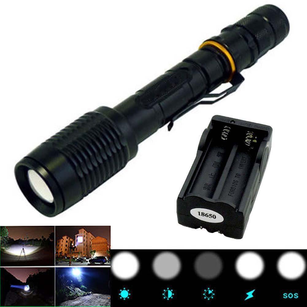 3000LM CREE XM-L T6 светодиодный зумирования фонарик факел лампы 5-режиме + 18650 зарядное устрой... фонарик womo xm l t6 cree 5 2000 for3aaa 18650 xml t6