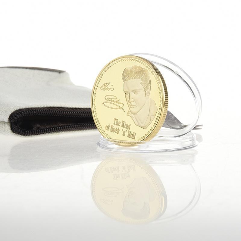 Рок-н-Золотой Элвиса Пресли памятных монет Монеты знаменитости памятные подарки знаменитости в челябинске