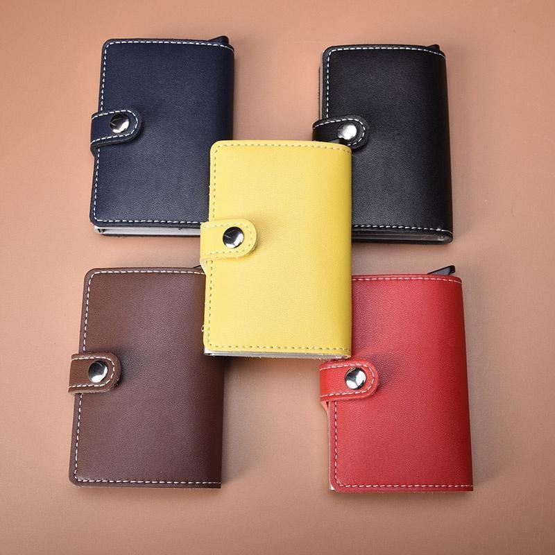Мужчины мода Пу кожа идентификатор кредитной карты протектор держатель кошелек бумажник эксперт вэ 96н экспресс идентификатор металлов