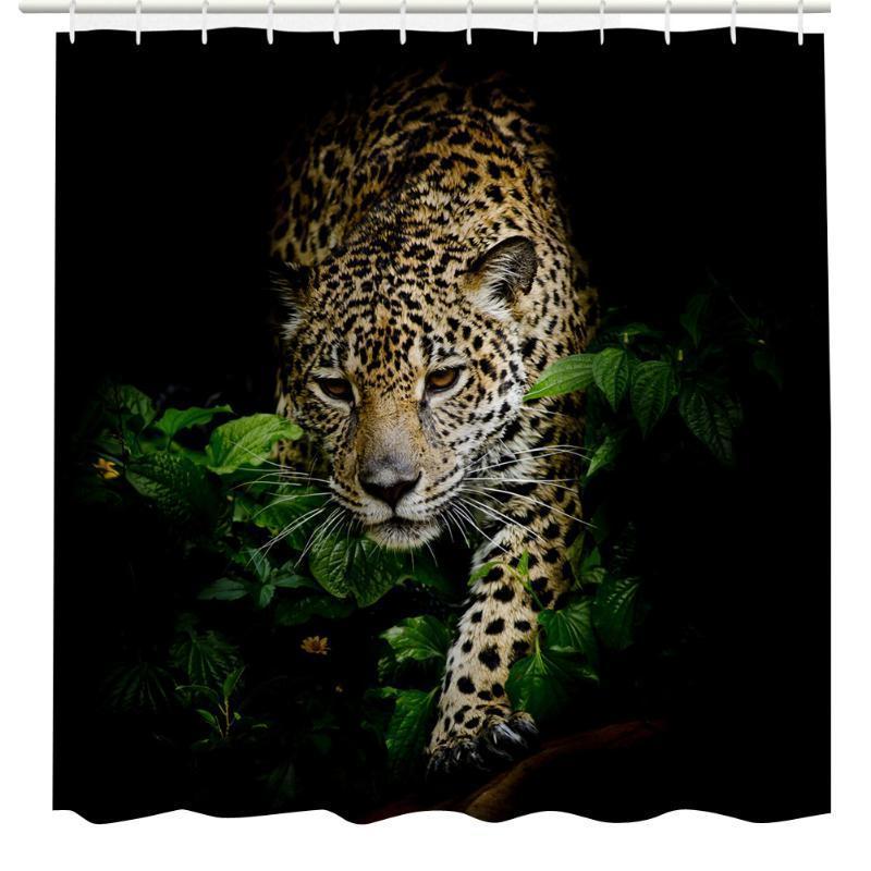 Тигр ванной Душ занавес Шторы дом декор стен декор для стен