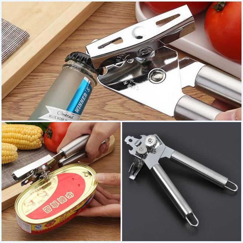 Многофункциональный нержавеющей стали можно Нож консервный нож бутылки открывалка кухонные инстру... консервный нож мультидом an54 52 an57 4