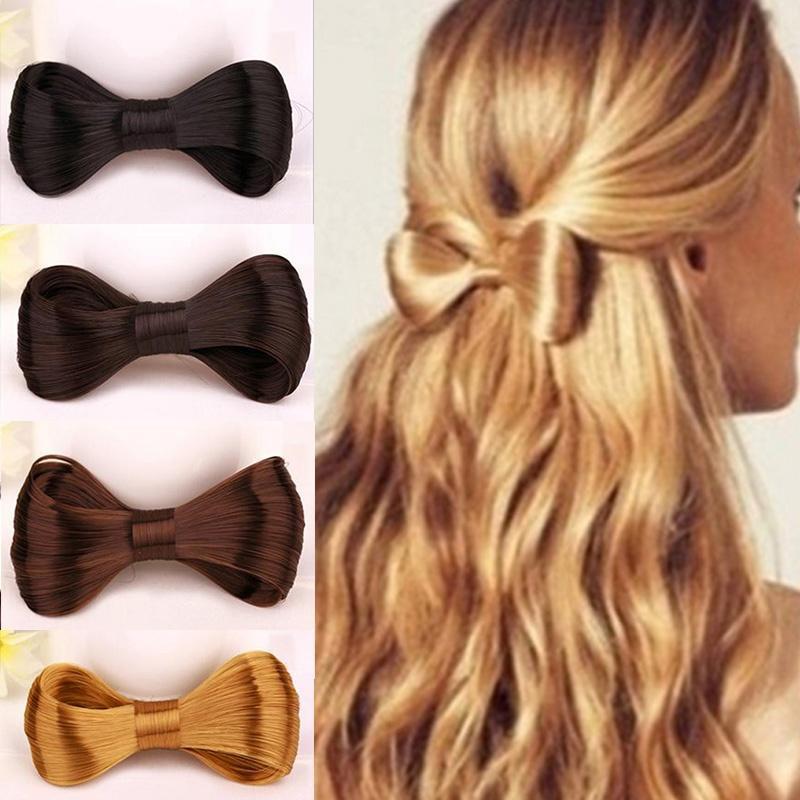 Новая мода большой галстуки парик шпилька заколка клипы женщин девушки волосы Аксессуары галстуки