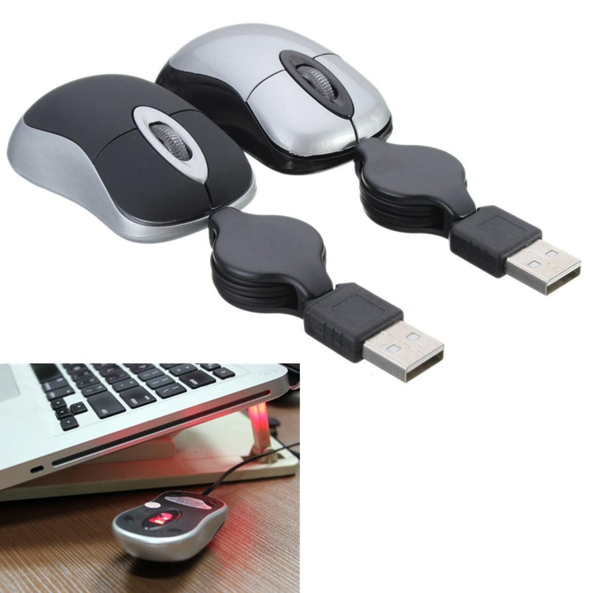 Мини убирающимся USB оптическая колесико проводной мыши мышь для ноутбука ноутбук