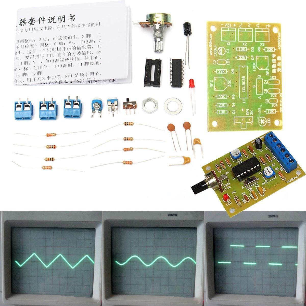 ICL8038 12V DC функция сигнала генератора модуль синус площади треугольника волна вывода синус катетер ямик 3 в москве