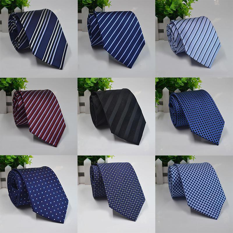 100% Жаккардовые тканые шелковые галстуки мужчин официальные Свадебные жених партии галстук галстуки