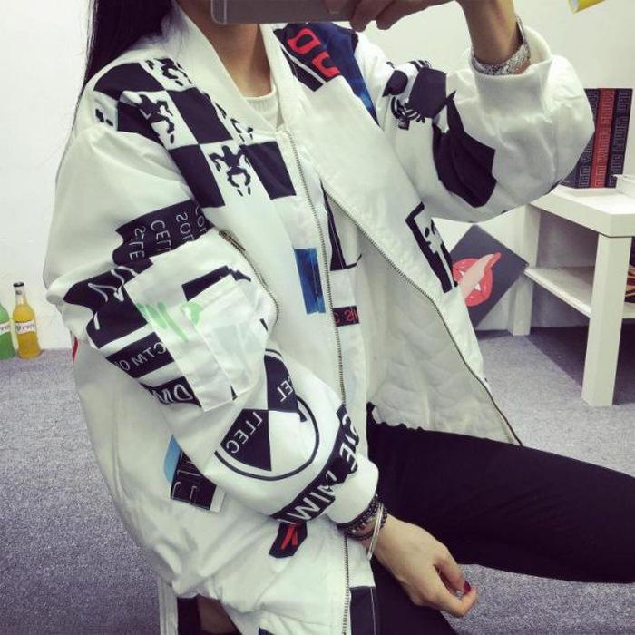 Южная Корея KPOP BIGBANG G-dragon с головным ветром BF Harajuku граффити письма бейсбол Пальто и ... bigbang gd g dragon collection one of a kind booklet release date 2013 4 02 kpop