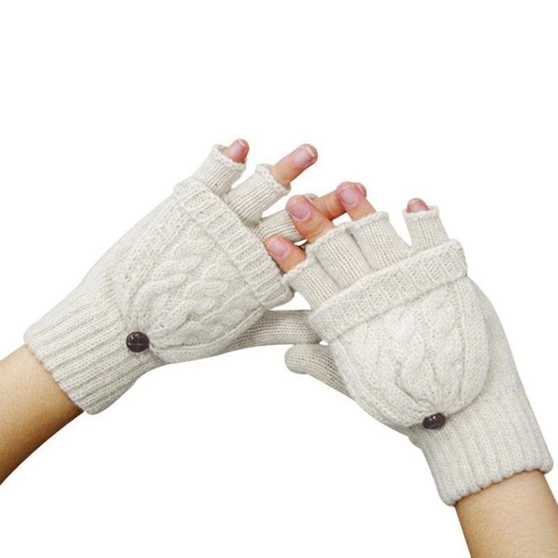 Модные перчатки женщин зимние перчатки без пальцев перчатки теплые варежки перчатки stella перчатки