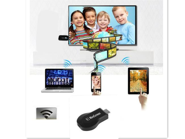 Мода беспроводной WiFi отображения потокового HDTV HDMI 1080P проигрыватель Media для IOS 9 андроид детская игрушка new wifi ios