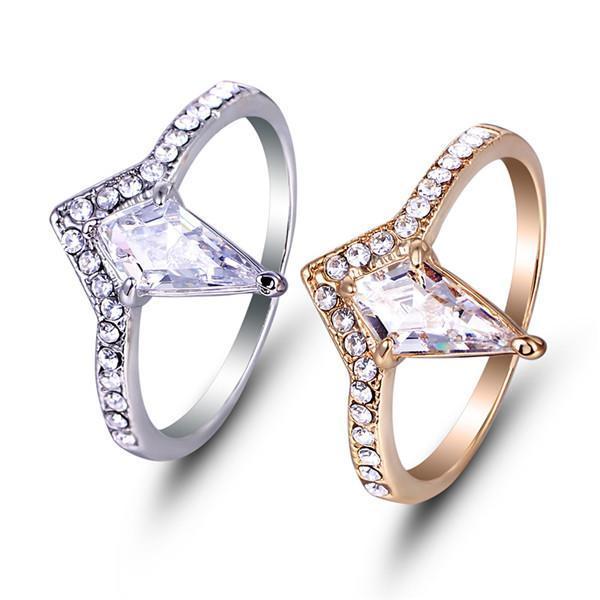 Уникальный очаровательный любовник пара кольца унисекс сплава циркония участие Золотого кольца, С...